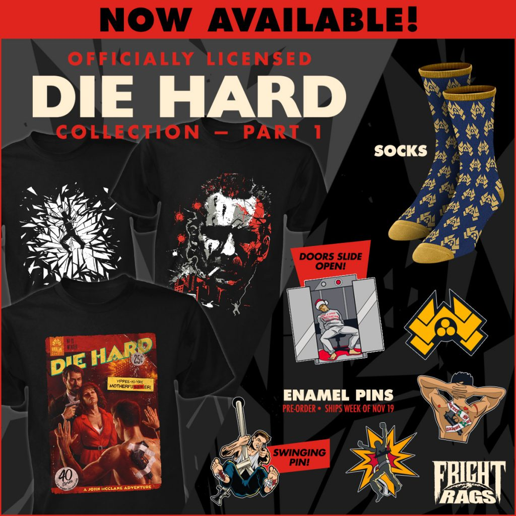 PET SEMATARY, NIGHT OF THE LIVING DEAD, & DIE HARD Apparel